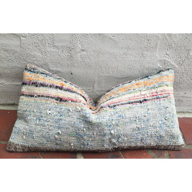 Moroccan Striped Kilim Pillow Cover - Image 2 of 11