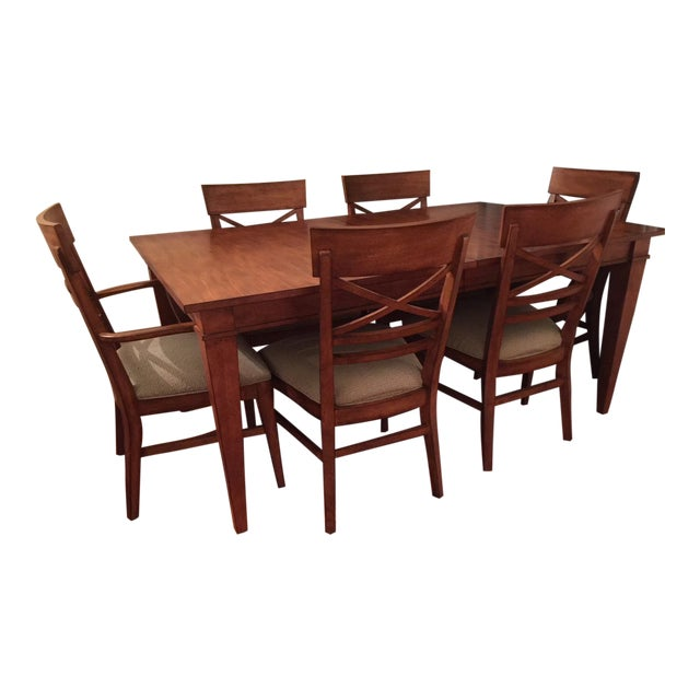 Ethan Allen Dining Table & Chairs - Image 1 of 8
