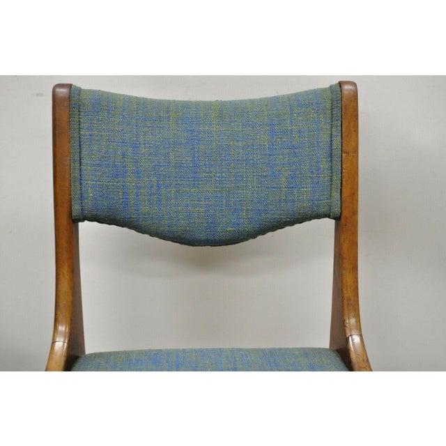 Drexel Drexel Dateline John Van Koert Walnut Mid Century Modern Dining Chairs - a Pair For Sale - Image 4 of 13