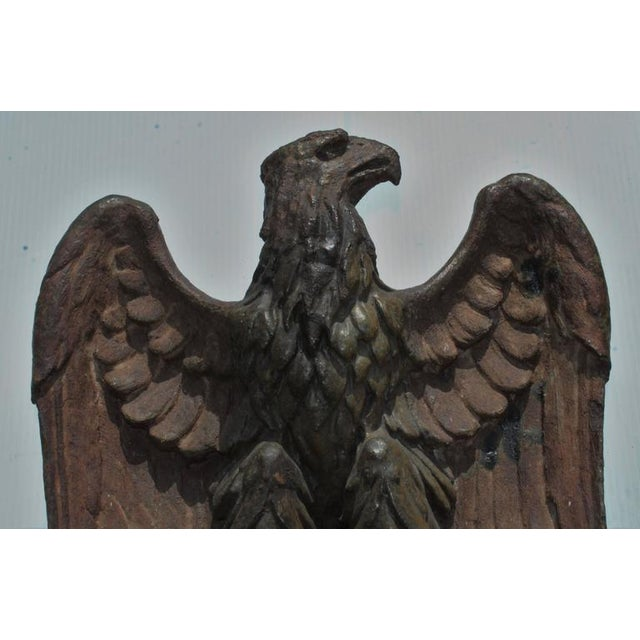 Early 19th Century Monumental Pottery Eagle Sculpture For Sale In Los Angeles - Image 6 of 9