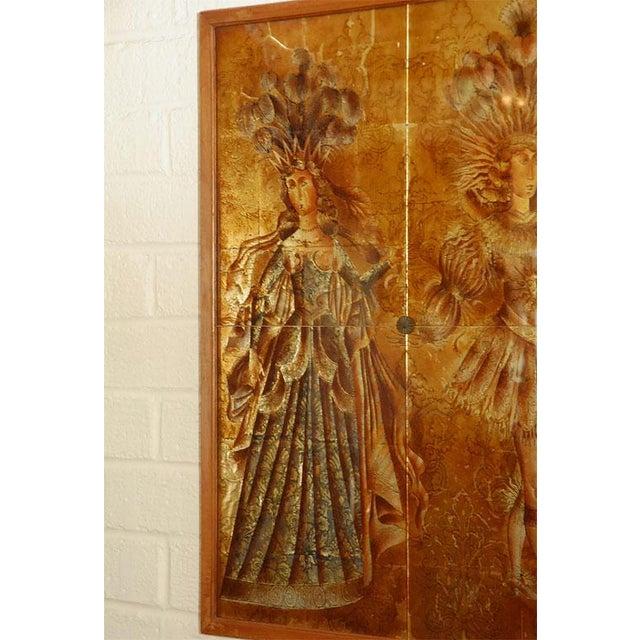 Figurative Italian Mid-Century Églomisé Panel For Sale - Image 3 of 9