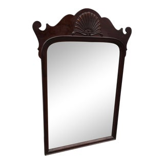A Chippendale Mahogany Wall Mirror For Sale