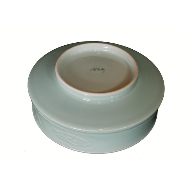Hand Carved Celadon Bowl - Image 6 of 6