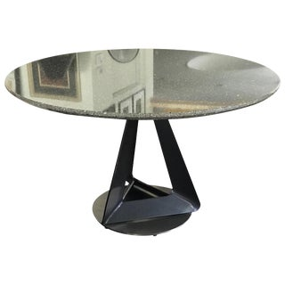 1990s Modern Metallic Quartz Game or Dining Table For Sale