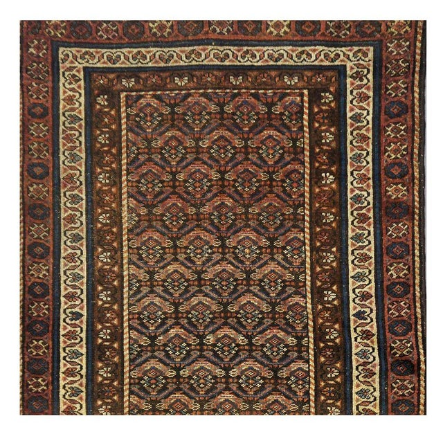 Antique Persian Kurdish Rug - 3'5'' x 6'6'' For Sale - Image 4 of 4