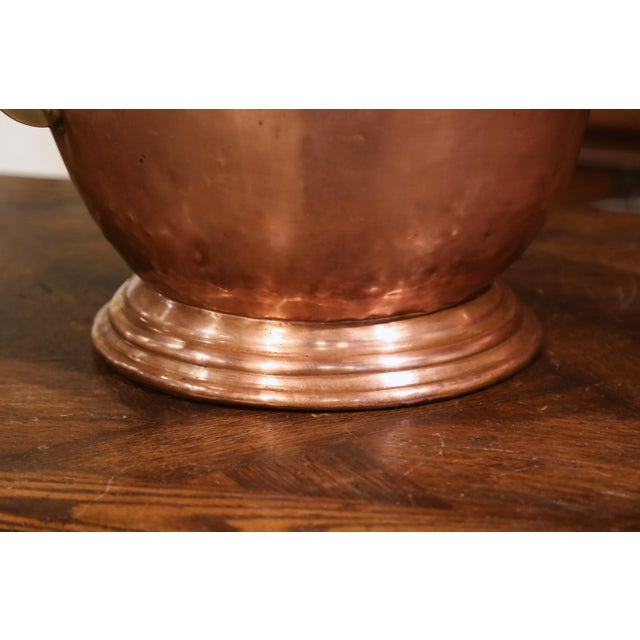 19th Century English Victorian Copper and Brass Coal Bucket For Sale In Dallas - Image 6 of 10