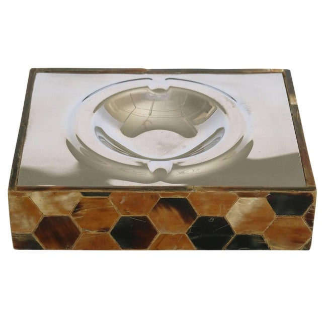 Mid-Century Patterned Shell Ash Tray For Sale