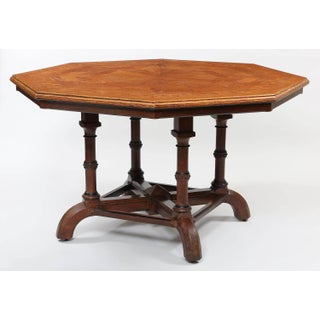 Howard & Sons Octagonal Oak Parquetry Top Centre Table, London, Circa 1880 Preview