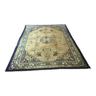 Antique Chinese Peking Rug - 8′9″ × 12′4″ For Sale