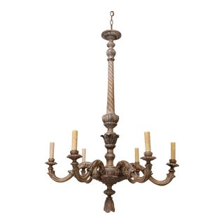 Fine Hand-Carved Italian Chandelier For Sale