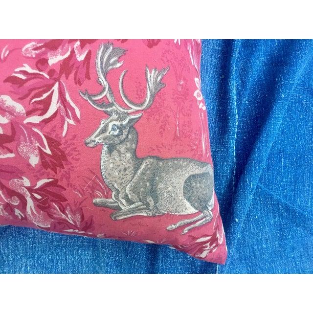 Vintage F. Schumacher Woburn Meadow Deer Pillows - A Pair - Image 7 of 10