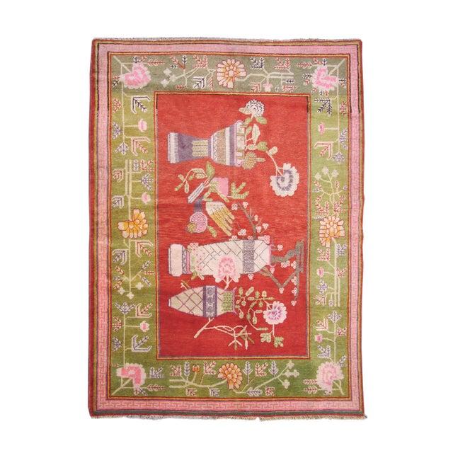 Colorful Khotan Woven Rug For Sale