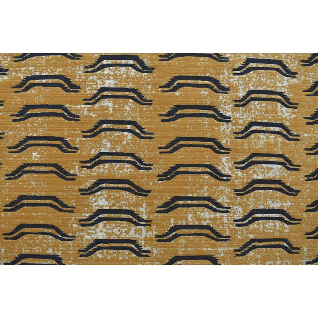 Virginia Kraft Bagha Fabric, Sample in Natural For Sale - Image 4 of 4