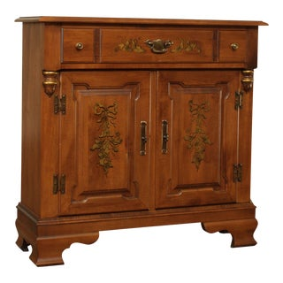 Tell City Young Republic Group Maple Hitchcock Style Console Cabinet For Sale