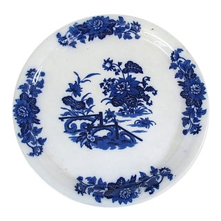 Antique Flow Blue Cheese / Cake Stand For Sale