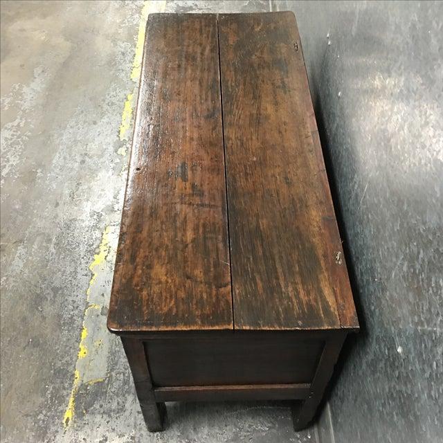Vintage Oak Carved Chest or Trunk - Image 7 of 9