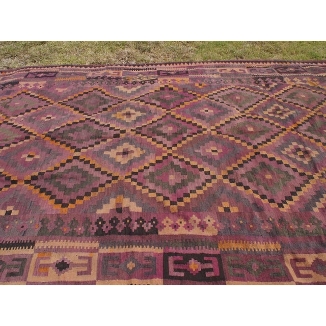 "Purple Diamond Kilim Rug - 8'8"" x 15'1"" - Image 5 of 11"