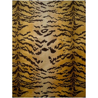 Scalamandre Tigre, Ivory, Gold & Black Fabric Preview