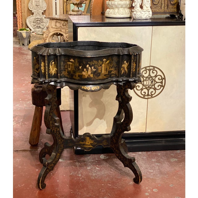 19th Century Vintage Chinoiserie Plant Stand For Sale - Image 9 of 9