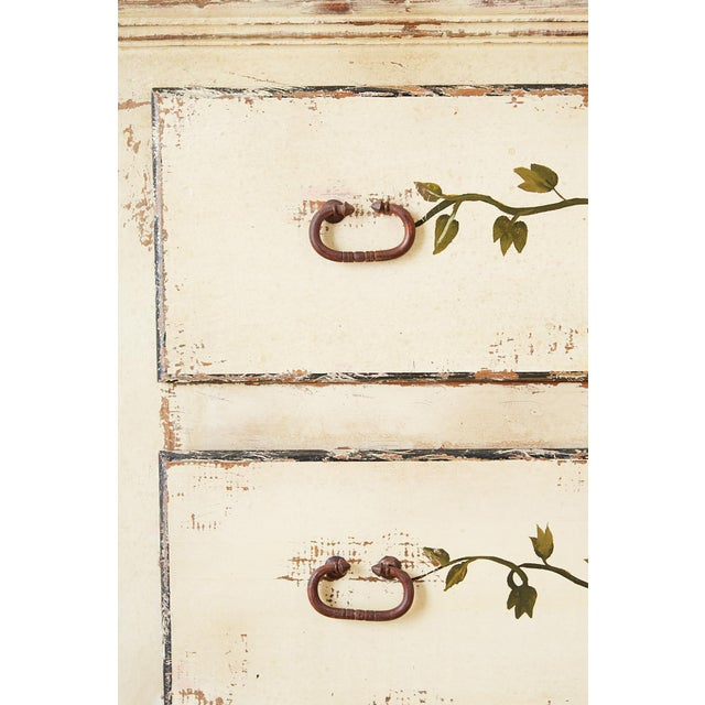Metal Country Italian Painted Four-Drawer Commode or Sideboard For Sale - Image 7 of 13