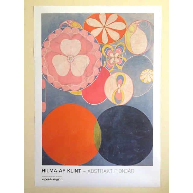 """Hilma Af Klint Swedish Abstract Lithograph Print Moderna Museet Exhibition Poster """" the Ten Largest, Childhood No.2 Group IV """" 1907 For Sale - Image 11 of 11"""