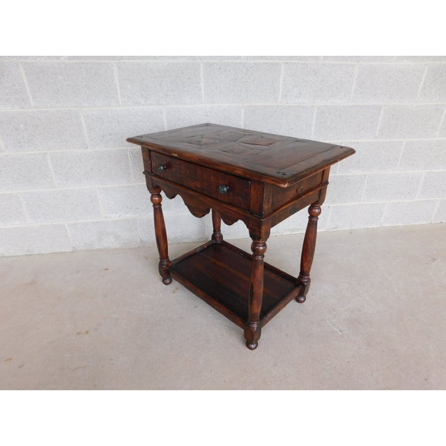 Features Fine Quality Constructed, 1 Dovetailed Drawer, Old World English Style Original Finish, Excellent Condition, - -...