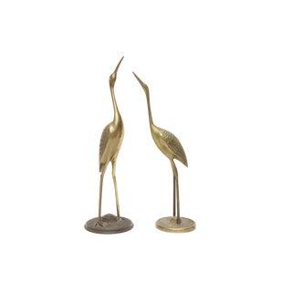 Vintage Brass Cranes - a Pair For Sale