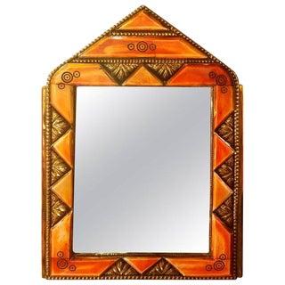Marakech Small Arched Orange Camel Bone Mirror