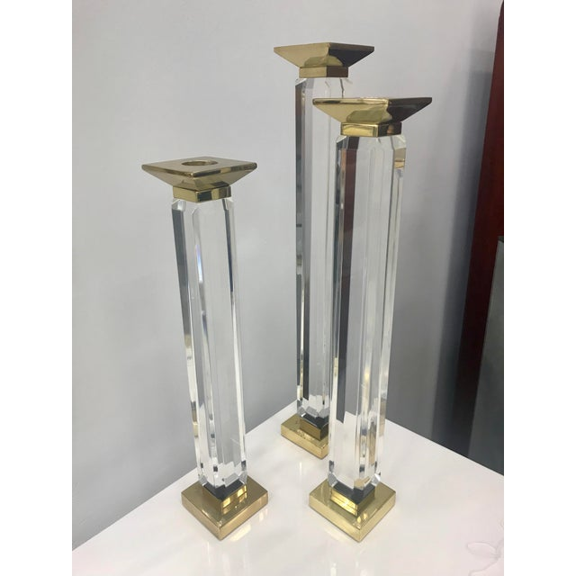 Charles Hollis Jones Candle Holders - Set of 3 For Sale In Miami - Image 6 of 8