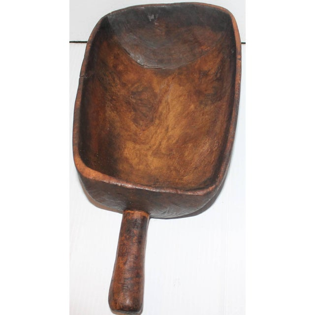19th Century Original Old Surface Hand-Carved Scoop - Image 8 of 10