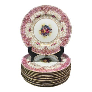 Early 19th Century Royal Worcester Dinner Plates - Set of 12 For Sale