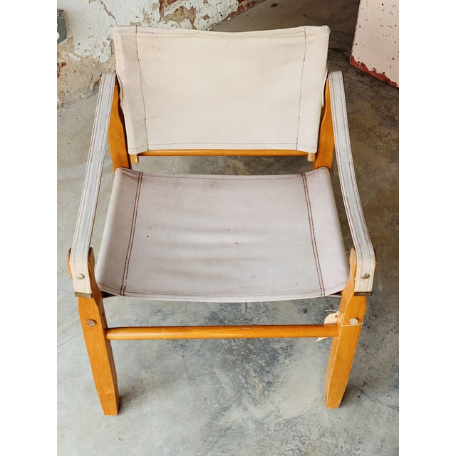 Perfect example of vintage minimalism. This vintage safari chair is sturdy and perfect for that home nook. Frame is made...