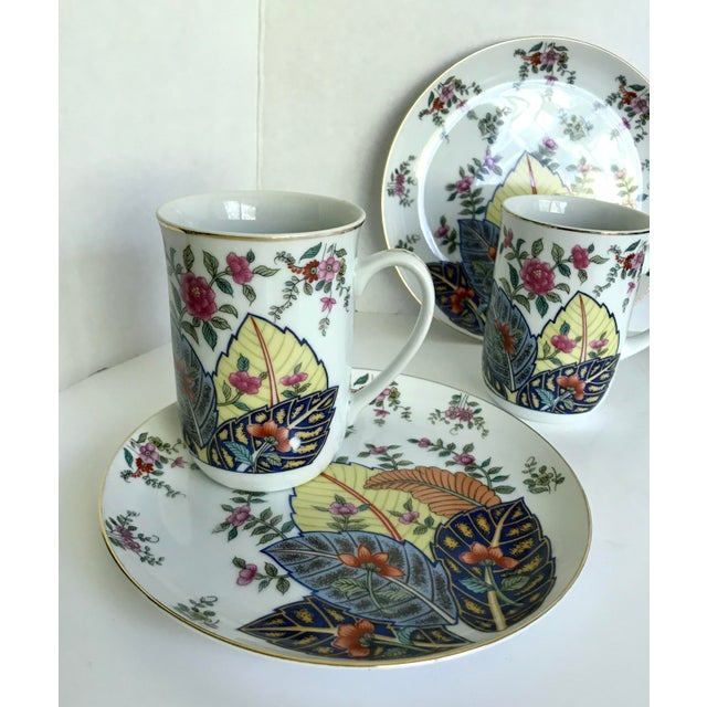 "1970's Seymour Mann ""Tobacco Leaf Nicotinia"" Japan Fine China Tea Coffee Set For Sale In Los Angeles - Image 6 of 9"