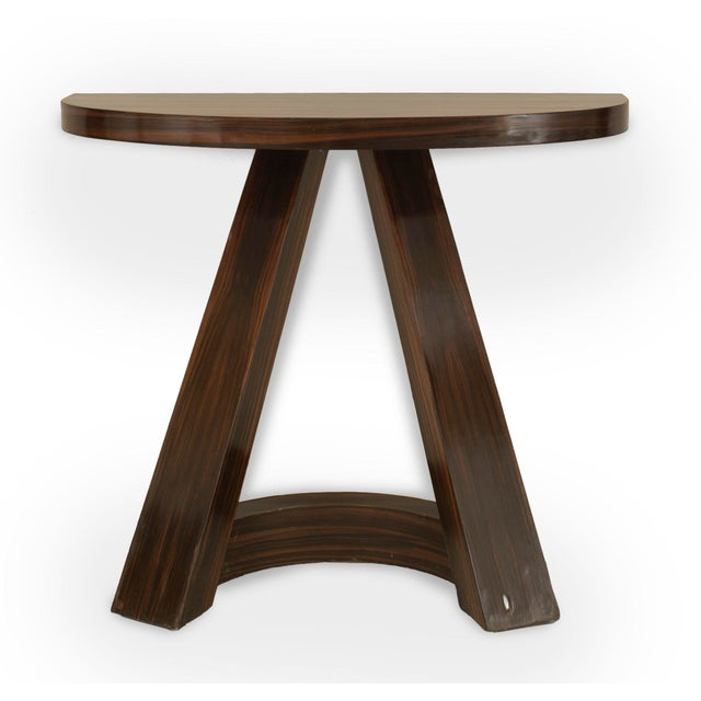 Italian Italian 1940s Rosewood Console Table For Sale - Image 3 of 3