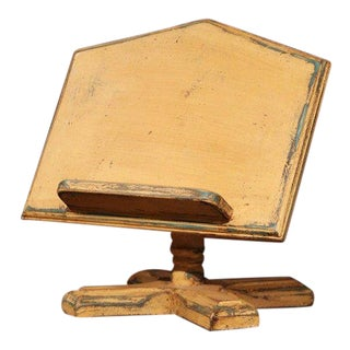 Late 20th Century French Carved Hand-Painted Table Book Stand