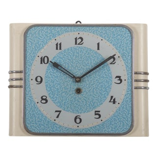 Art Deco Wall Clock For Sale