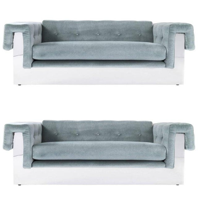 Milo Baughman Pair of Sofas For Sale - Image 9 of 9