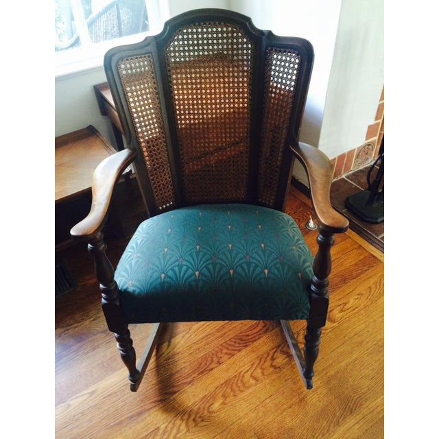 Vintage Upholstered Rocking Chair - Image 6 of 6