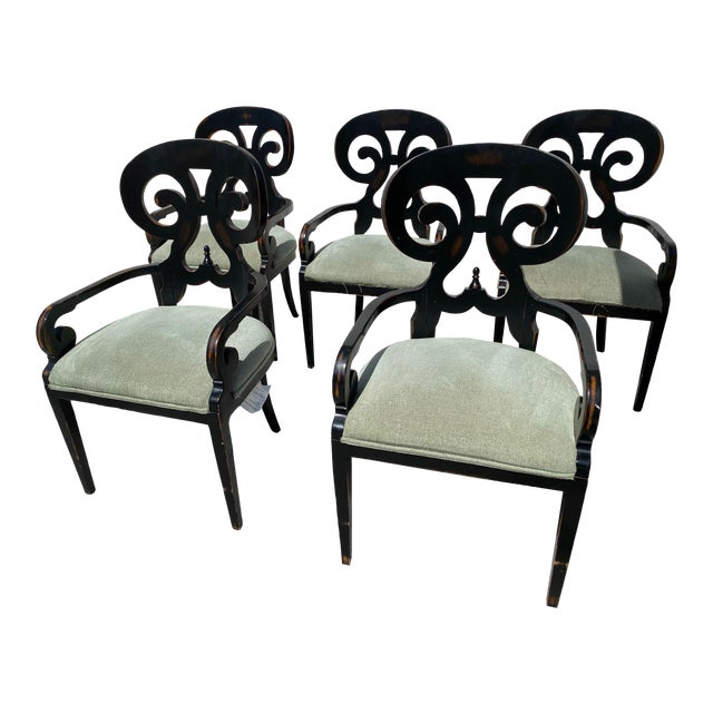 Mid Century Modern Wood Dining Chairs - Set of 5 For Sale
