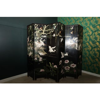 1940s Vintage Asian Folding Screen Preview