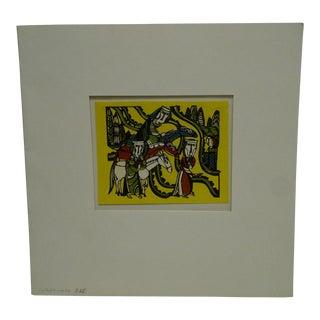 "20th Century Original Japanese Print ""Watanabe"" For Sale"