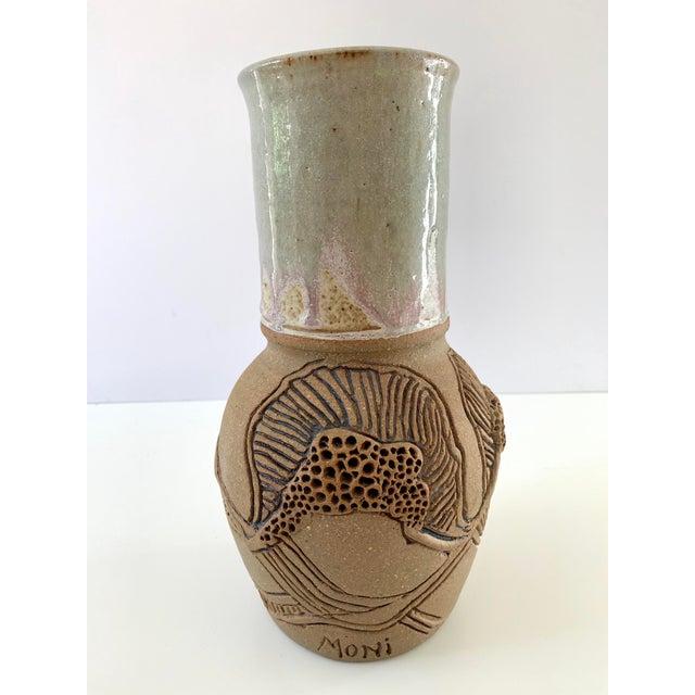 Vintage Handmade Ceramic Vase For Sale - Image 13 of 13
