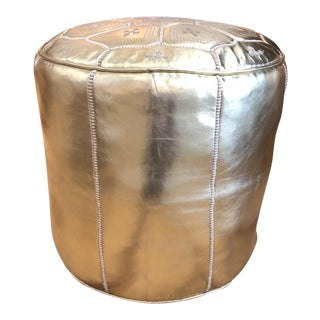Gold Tabouret Tall Pouf For Sale