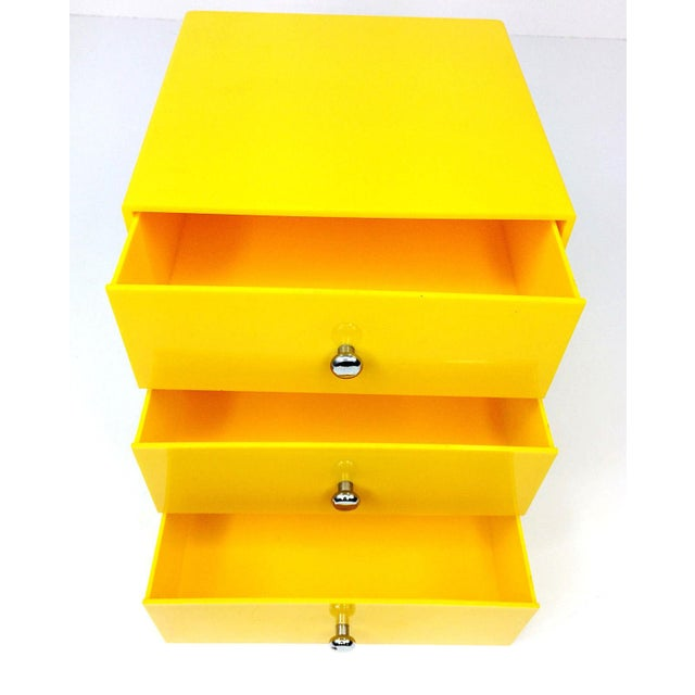 Mid-Century Modern Mid Century Palaset Treston Oy Finland 3 Drawer Storage For Sale - Image 3 of 10