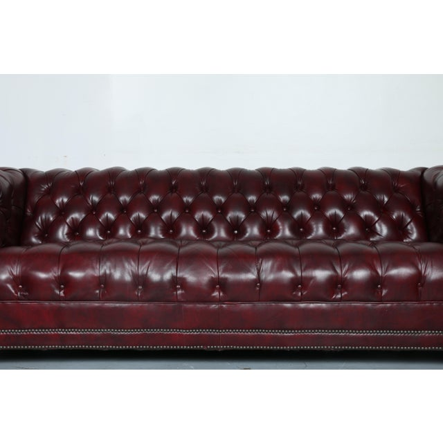1970'S Burgundy Emerson Leather Chesterfield Sofa - Image 3 of 10
