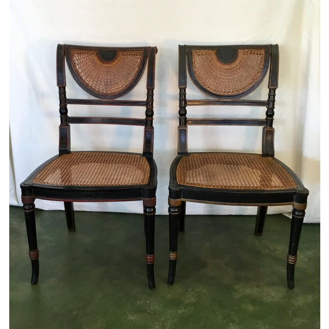 Set of 8 French Cane Dining Chairs Circa 1840 - Two Arm & Six Side Chairs For Sale In Los Angeles - Image 6 of 13