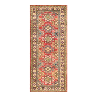 "Apadana - Red and Green Indian Tabriz-Style Runner, 2'1"" X 6'"