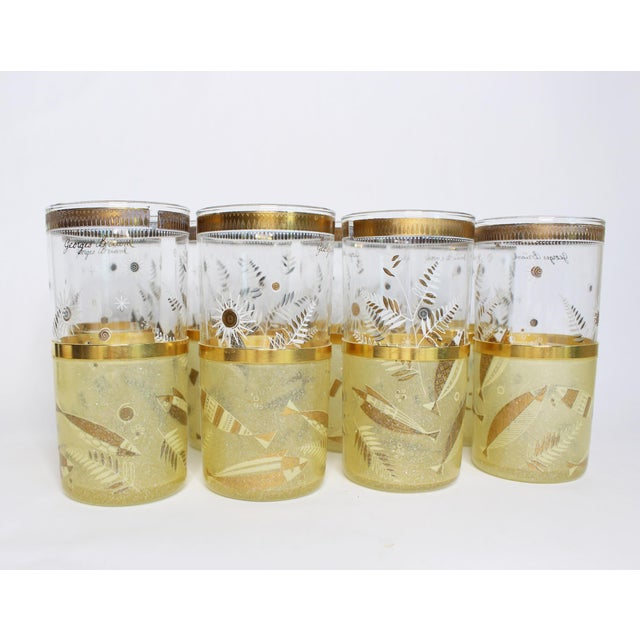 Glass Mid-Century Georges Briard Highball Glasses - Set of 8 For Sale - Image 7 of 9