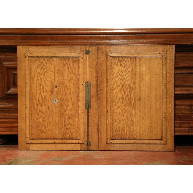 Oak Pair of 19th Century French Henri II Carved Oak Doors With High Relief Carvings For Sale - Image 7 of 8