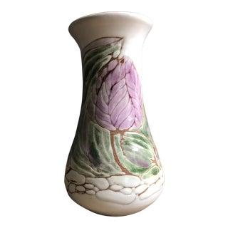 Vintage Arts and Crafts Tulip Terra Cotta Vase For Sale